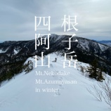 『厳冬期ならぬ暖冬期の根子岳、四阿山縦走の記録。』の画像