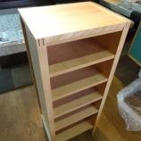 『【お客様設定のフルオーダー家具】バーチ材のフルオーダーのオープンシェルフ・オーロラ』の画像
