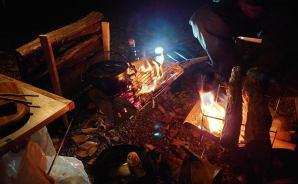 友人と行ったキャンプの写真を公開