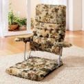 使わない時はコンパクトに折り畳んで収納できる座椅子…