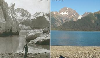 「消えゆく氷河」地球温暖化の影響がよく分かる比較写真