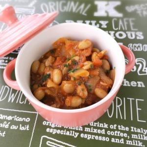 スパイスで一工夫♪大豆のトマトスパイス煮込み