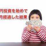 『3000円投資を始めて10ヶ月経過した結果!』の画像