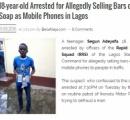 固形石鹸でこしらえた偽スマホ ナイジェリアの18歳少年「自分も騙されたから売った」