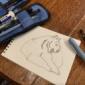 京都動物園行った時の落書きにペン入れ。  おはよう。 htt...