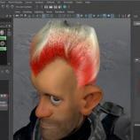 『【Maya2016】XGenで髪の毛のカラーも自由自在に。』の画像