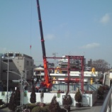 『建設中の戸田市行政センターに鉄骨がたてられました』の画像