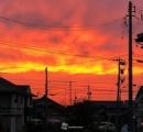 鮮やか過ぎる真っ赤な夕焼け 大阪・京都・金沢など