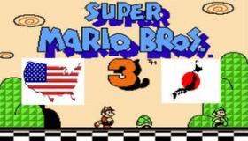 スーパーマリオ3 アメリカ版と日本版の比較動画 海外の反応