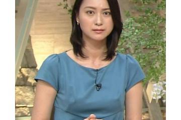 小川彩佳の服からポチる乳首 210922