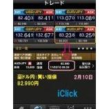 『iPhoneアプリ【iClick FX】で豪ドル円のスイングトレード♪』の画像