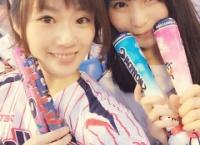 【AKB48】田名部生来、名取稚菜、福岡聖菜が野球観戦!