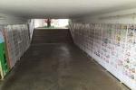 地下道が華やかになってる!『郡津駅地下道』にたくさん絵がある!