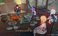 【原神】みんなで飯食うシーンがこんなにも多いゲームは初めてだわ。中国との文化の違いを感じる