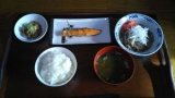 ワイの作った牛鮭定食(420円)がこちら(※画像あり)