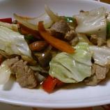 『豚肉と野菜とナッツの炒めもの』の画像