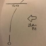 『ルアーの頭の進入角度。』の画像