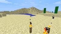 対岸の砂漠を計測及び整地中