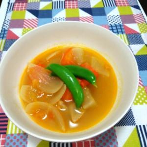豚肉と根菜のトマトスープ
