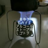 『魚串で簡単に自作できるアルコールストーブ用ゴトク。』の画像