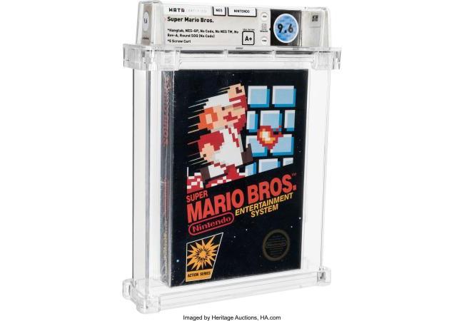 未開封マリオに7千万円 ゲームで史上最高