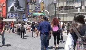 【日本の都市】    東京を ただ歩くだけ。 4K映像のカメラの動画。  海外の反応