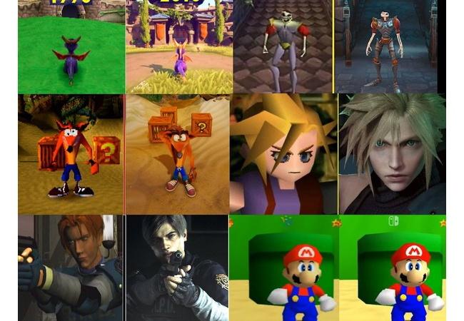 1990年代に出たゲームタイトルのそれぞれの進化を表した画像がTwitterで話題に
