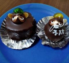長野県の老舗菓子店「翁堂」のたぬきケーキは、マスクをして予防をうながしてる