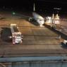 溝辺空港の展望フロアで!