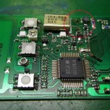 『文化シャッターのリモコンの回路修復手術』の画像