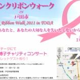 『ピンクリボンウォーク in 戸田の森口博子さんチャリティコンサートへの申込みが戸田中央医科グループホームページからできるようになっています!』の画像