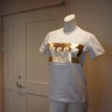 『MSGM(エムエスジーエム)箔パネルロゴTシャツ』の画像