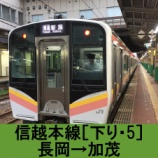 『信越本線 車窓[下り・5]長岡→加茂』の画像