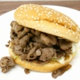 【画像】ドムドムバーガーの単品1個990円のバーガーがこちら #ドムドムハンバーガー #黒毛和牛肉バーガー