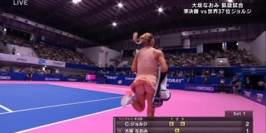 【画像あり】今やってる女子テニスでとんでもない映像が流れてしまうwwwwwwwwwwwwwwwwwwwwwww