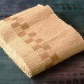 ヤマザクラ染め裂き織り半幅帯