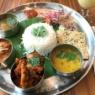 南インド料理のThali(ターリ)をいただく。