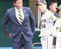侍・稲葉監督 阪神キャンプ視察で岩貞に熱視線 2安打のドラ3・木浪も気になる?