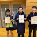 『岩手県南・宮城県卓球大会に参加しました』の画像