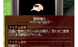 警察帽子タイプAデタ━━━゚(∀)゚━━━!!