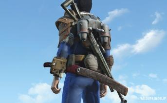 刀やライフルを装着するコンバットギアMOD