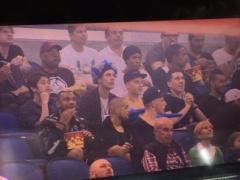 【画像】アメリカでバスケットの試合を観戦するシャルケ一行!内田は睡眠中!?www