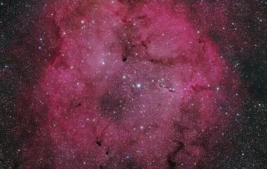『阿武隈高原で捉えたケフェウス座のIC1396散光星雲』の画像