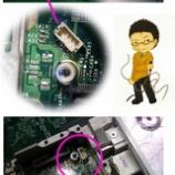 『apple I Book G4  ロジックボード ソケット修理』の画像