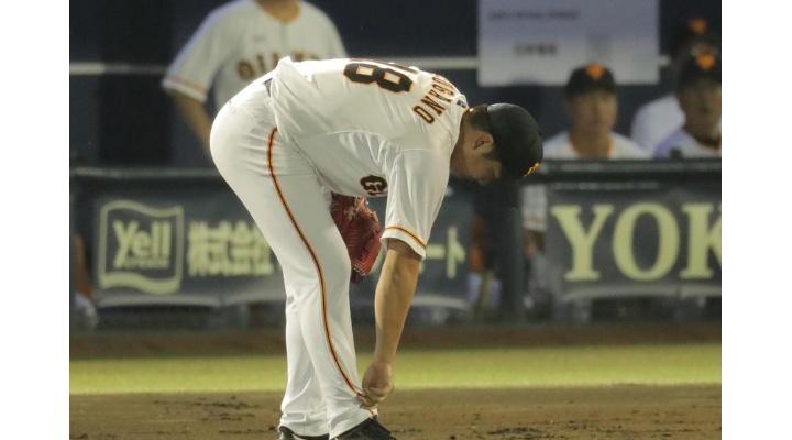 今日の巨人・菅野はいつ痛めたんだ?