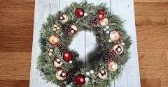【ニトリ】おすすめ!気軽に飾れるクリスマスLEDポスターリース☆