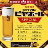 『【数量限定】樽生ビール「銀座ライオンビヤホールSPECIAL」販売』の画像