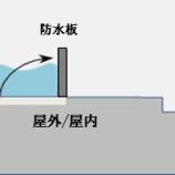 『浸水を防ぐ防水板』の画像