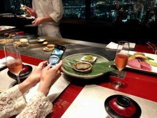 コンラッド東京で婦人会 鉄板焼「風花」