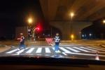 第二京阪交野北出口近くで『飲酒運転の検問』やってた